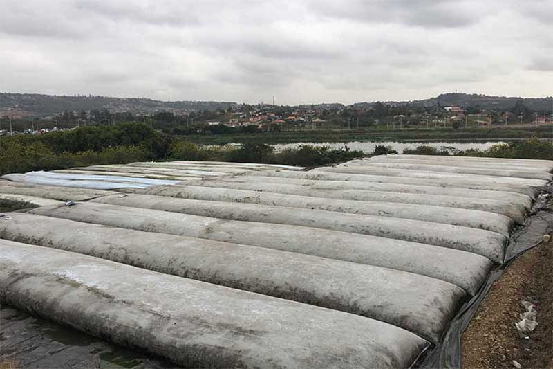 Dry Tailings Storage using Geotextile Tubes